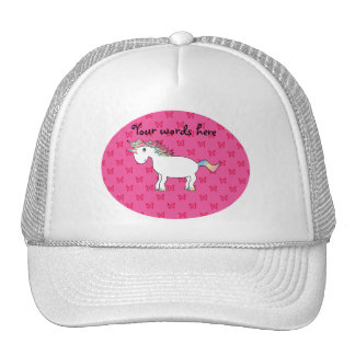 Mariposas lindas del rosa del unicornio gorras de camionero