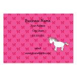 Mariposas lindas del rosa del unicornio tarjetas de visita
