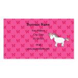 Mariposas lindas del rosa del unicornio plantillas de tarjetas personales
