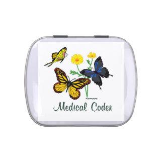 Mariposas médicas del codificador latas de caramelos