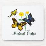 Mariposas médicas del codificador tapetes de ratón