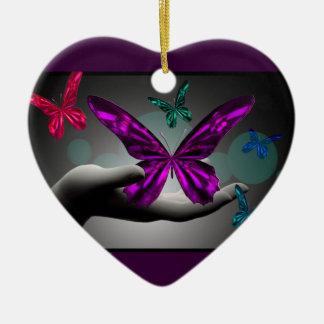 Mariposas místicas de neón ornato