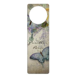 Mariposas modernas del diseño floral del papel pin colgadores para puertas