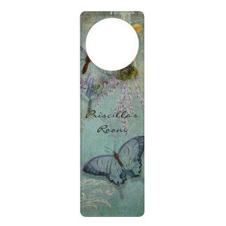 Mariposas modernas del diseño floral del papel pin colgador para puerta