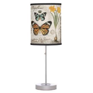 Mariposas modernas del francés del vintage lámpara de escritorio