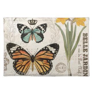 Mariposas modernas del francés del vintage mantel