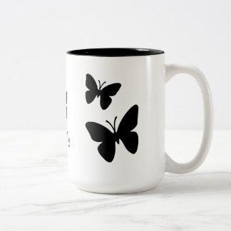 Mariposas negras - taza