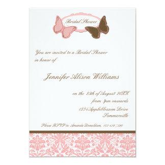 Mariposas nupciales del damasco del rosa y del anuncio