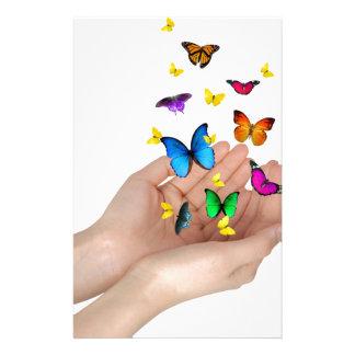 mariposas papeleria personalizada