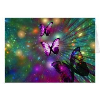Mariposas para siempre tarjeta de felicitación