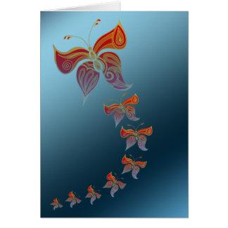 Mariposas para usted tarjeta de felicitación