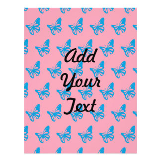 Mariposas pink.ai azul flyer personalizado
