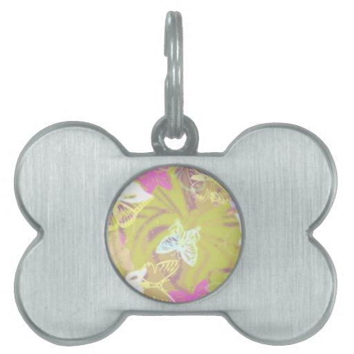 mariposas placa de mascota