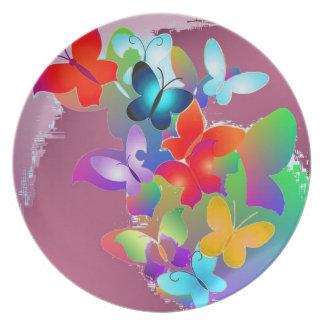 Mariposas Platos De Comidas