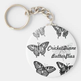 Mariposas por el cricketdiane llavero redondo tipo pin