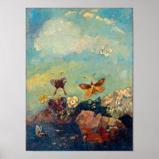 Mariposas por Redon Póster