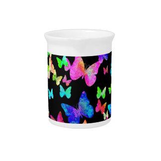 Mariposas psicodélicas jarras para bebida