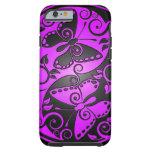 Mariposas, púrpura y negro de Yin Yang Funda De iPhone 6 Tough