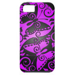 Mariposas, púrpura y negro de Yin Yang iPhone 5 Protector