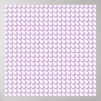 Mariposas púrpuras bonitas de la conciencia del póster