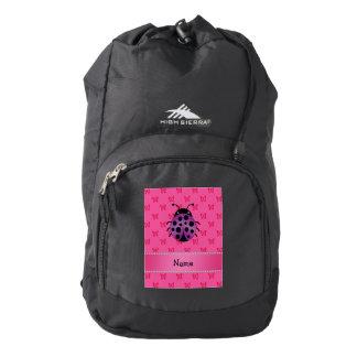 Mariposas púrpuras conocidas personalizadas del mochila