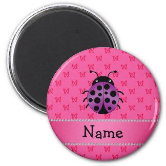 Mariposas púrpuras conocidas personalizadas del ro imán para frigorífico