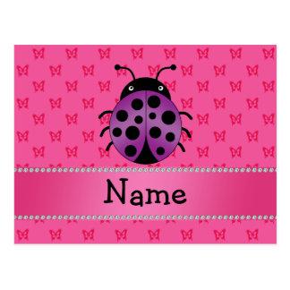 Mariposas púrpuras conocidas personalizadas del ro tarjetas postales
