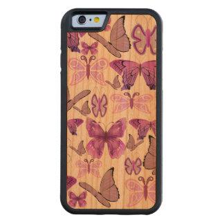 Mariposas púrpuras de la conciencia funda de iPhone 6 bumper cerezo