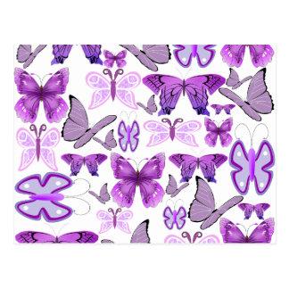 Mariposas púrpuras de la conciencia tarjeta postal