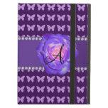 Mariposas púrpuras de los rosas del monograma