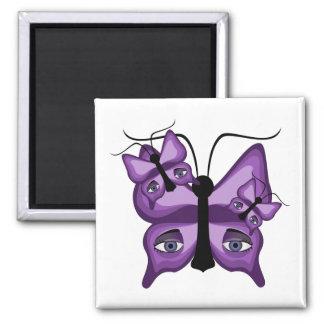 Mariposas púrpuras del vigilante imán