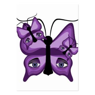 Mariposas púrpuras del vigilante tarjetas de visita grandes