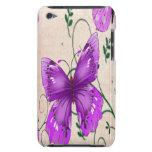 Mariposas púrpuras en colores pastel iPod touch Case-Mate fundas