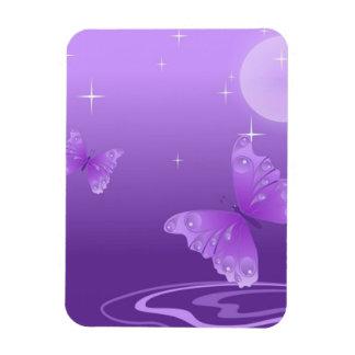 Mariposas púrpuras en el Sun Imanes De Vinilo
