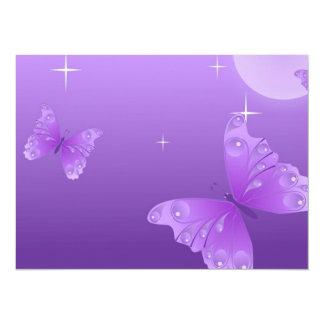 Mariposas púrpuras en el Sun Invitación 13,9 X 19,0 Cm