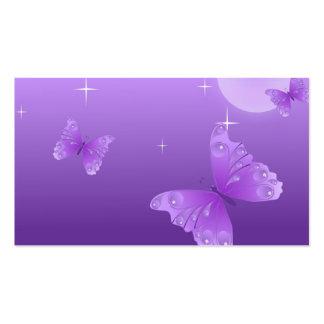 Mariposas púrpuras en el Sun Plantilla De Tarjeta De Negocio