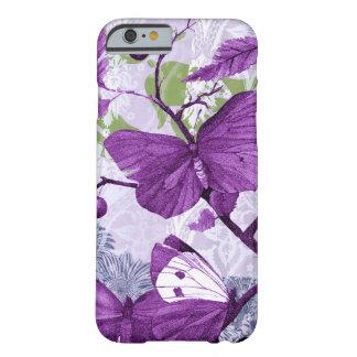 Mariposas púrpuras en una rama funda de iPhone 6 barely there