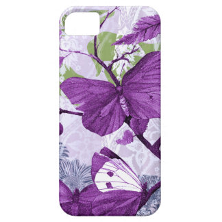 Mariposas púrpuras en una rama iPhone 5 Case-Mate cobertura