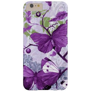 Mariposas púrpuras en una rama funda barely there iPhone 6 plus