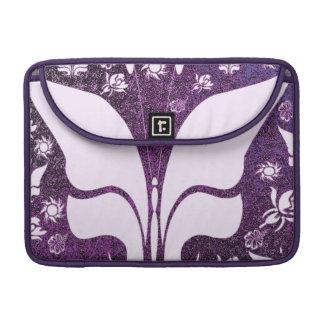 Mariposas púrpuras florales funda para macbooks