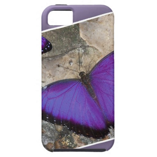 Mariposas púrpuras iPhone 5 Case-Mate funda