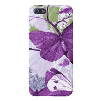 Mariposas púrpuras iPhone 5 fundas