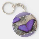 Mariposas púrpuras llavero