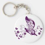 Mariposas púrpuras llavero personalizado
