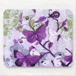 Mariposas púrpuras populares Mousepad Tapetes De Raton