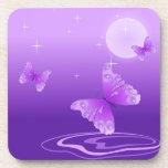 Mariposas púrpuras posavasos