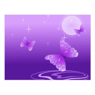Mariposas púrpuras postales