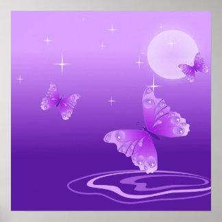 Mariposas púrpuras póster