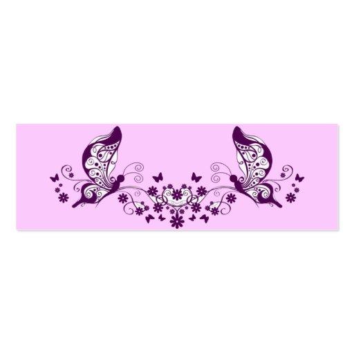 Mariposas púrpuras tarjetas de visita mini