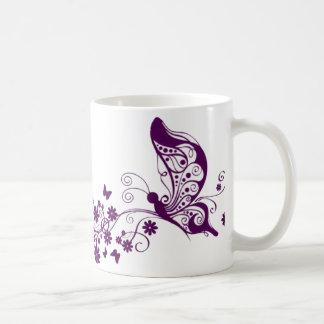 Mariposas púrpuras tazas